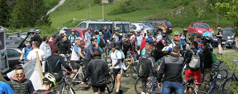 PRVI MAUNTINBAJK KROS: Sokolskim tragovima na biciklima